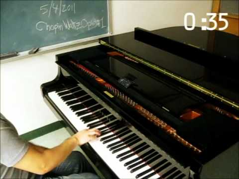 Chopin The Minute Waltz in 1 MINUTE! FOR REAL!