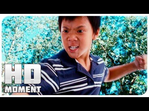 Чэн избил дре - каратэ-пацан (2010) - момент из фильма