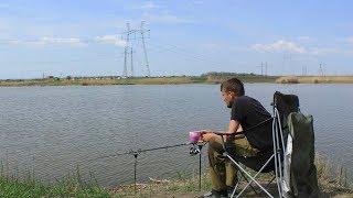 Ловля карася на фидер в пруду! Рыбалка весной, начало фидерного сезона.
