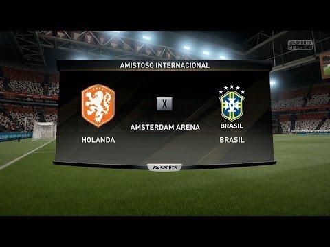FIFA 2017 - Brasil vs Holanda - Gameplay Pedido por Inscritos - Estádio Amsterdam   Modo Lendário