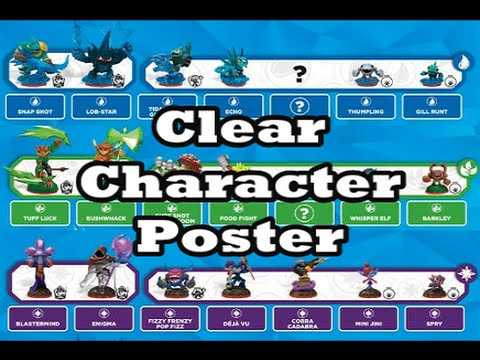 Skylanders: Trap Team - Clear Character Poster - YouTube