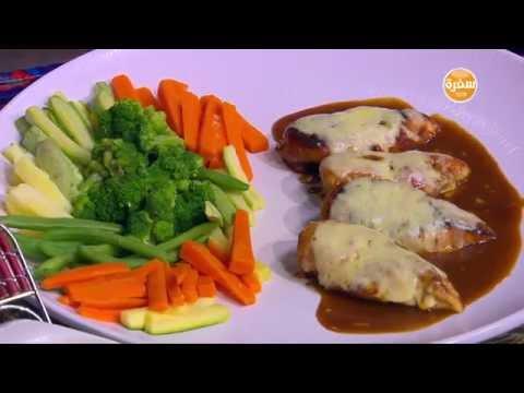فيليه صدور الدجاج بصوص الباربيكيو والجبن : سالي فؤاد