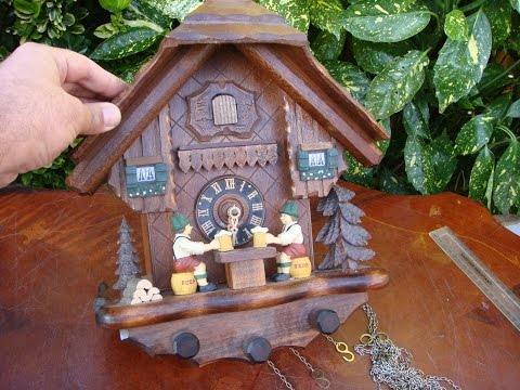 Music Swiss With German  Cuckoo Wall Clock   * SEE VIDEO *