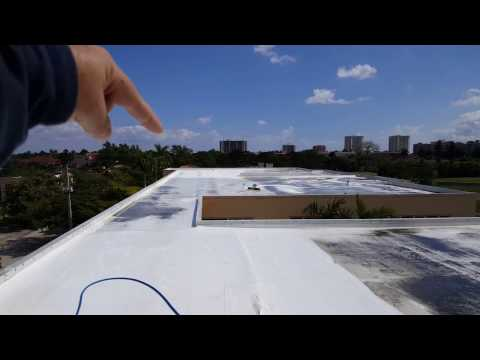 Condo TPO Roof Cleaning Close Up Look  -  Under Pressure Power Wash LLC 561-907-9541