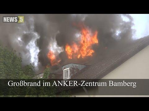 23.09.2018 (BA) Großbrand im ANKER-Zentrum Bamberg