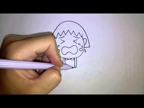 สอนวาดรูป การ์ตูน มารูโกะ ร้องไห้