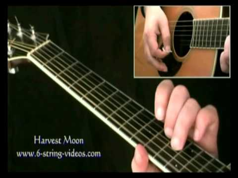 How To Play Neil Young Harvest Moon (intro only) - YouTube