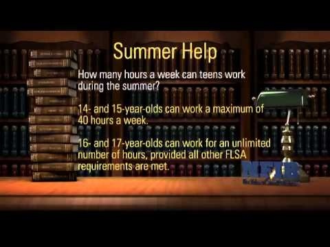 Small Business Legal Tips For Hiring Summer Employees | NFIB Legal Ease Video