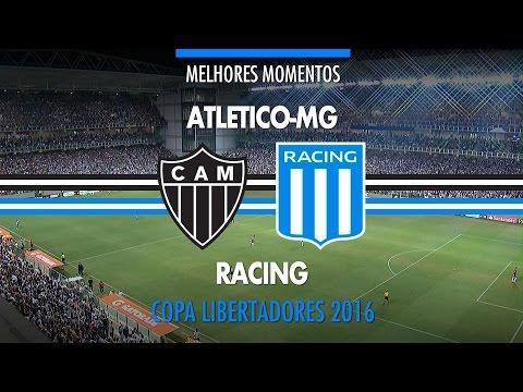 Melhores Momentos - Atlético-MG 2 x 1 Racing-ARG - Libertadores - 04/05/2016