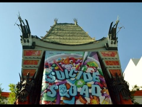 Watching a movie at the Famous Chinese Theater in Los Angeles