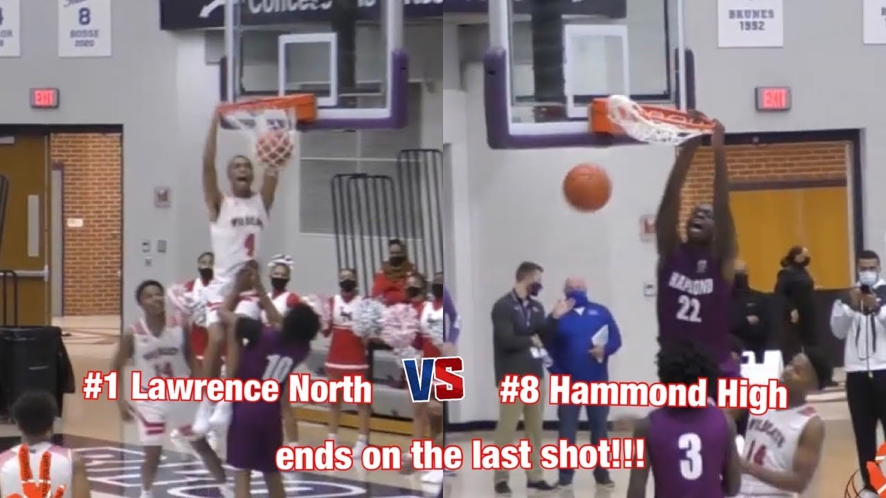 #1 Ranked (4A) Lawrence North vs #8 Ranked (3A) Hammond High ENDS ON THE LAST SHOT!!!