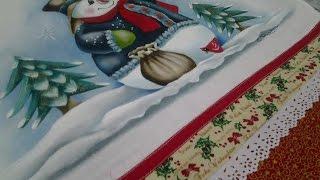 Boneco de neve – projeto – pintura em tecido – Cristina Ribeiro