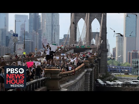 New York protests continue despite rain, pandemic and curfew