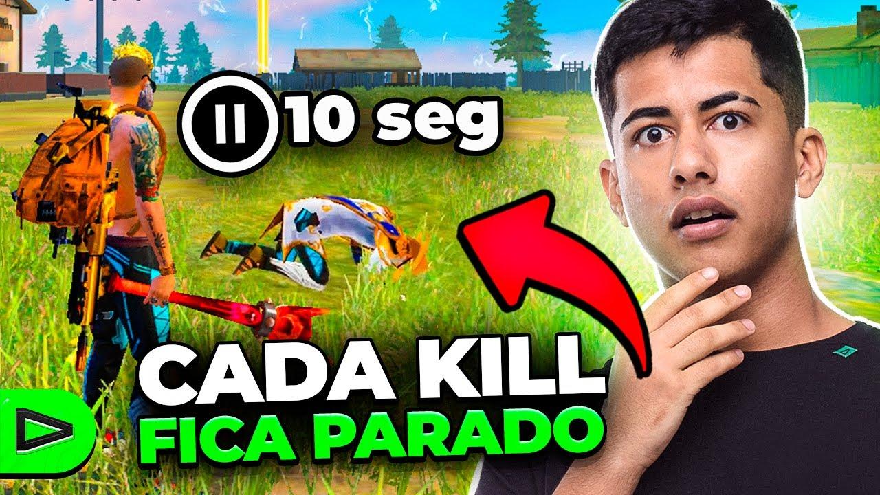 A CADA KILL TEM QUE FICAR PARADO 10 SEGUNDOS!! LOUD FREE FIRE
