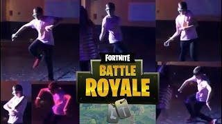 Child imitating Fortnite dances at a party REAL LIFE