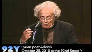 Syrian poet Adonis at the 92nd Street Y