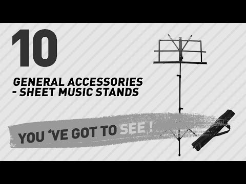 General Accessories - Sheet Music Stands // New & Popular 2017
