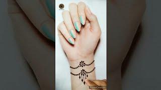 Beautiful hand wrist bracelet mehndi designs | Tattoo mehndi designs | #shorts