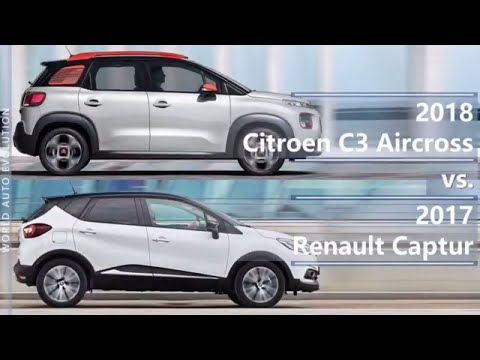 2018 Citroen C3 Aircross vs 2017 Renault Captur (technical comparison)