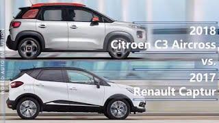 2018 Citroen C3 Aircross vs 2017 Renault Captur (technical comparison)