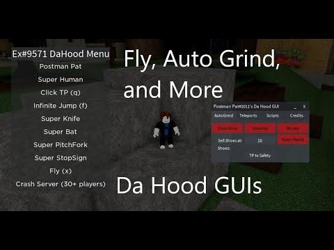 Roblox Da Hood Menu GUIs - Walkspeed, Fly, Auto Farm, And More