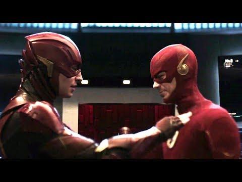 Crisis On Infinite Earths Cameo | DCEU Barry Allen Meets Barry Allen Scene