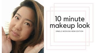 10 MINUTE MOMMY MAKEUP LOOK | Single Working Mom Edition