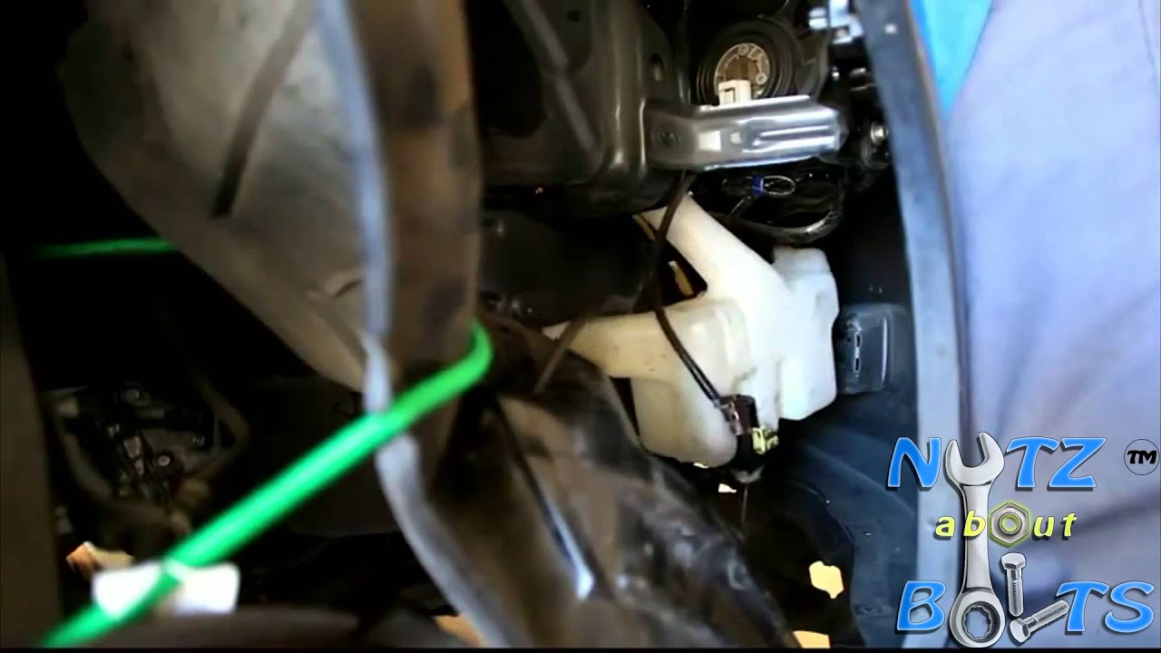 2003 Honda Crv Starter Wiring Diagram Code Alarm Ca1053 2007 Accord Windshield Washer Pump Remove Install Youtube