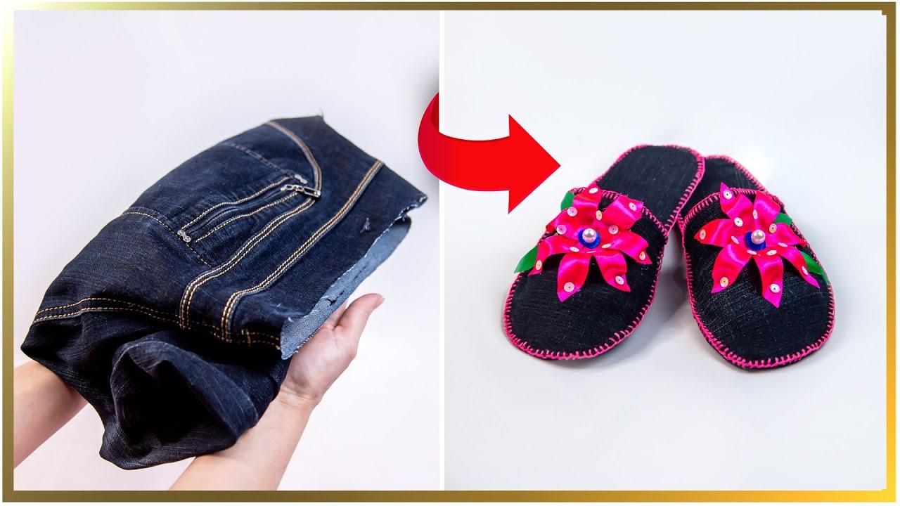Cum să faci papuci de casă, o idee exclusivă din blugi vechi!| Perfect