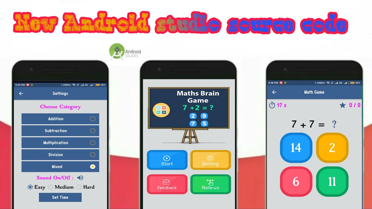 android studio quiz app source code free download
