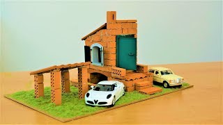 How To Build A Brick Wall: Bricklaying --- How to Build a Mini House and Mini Garage Model