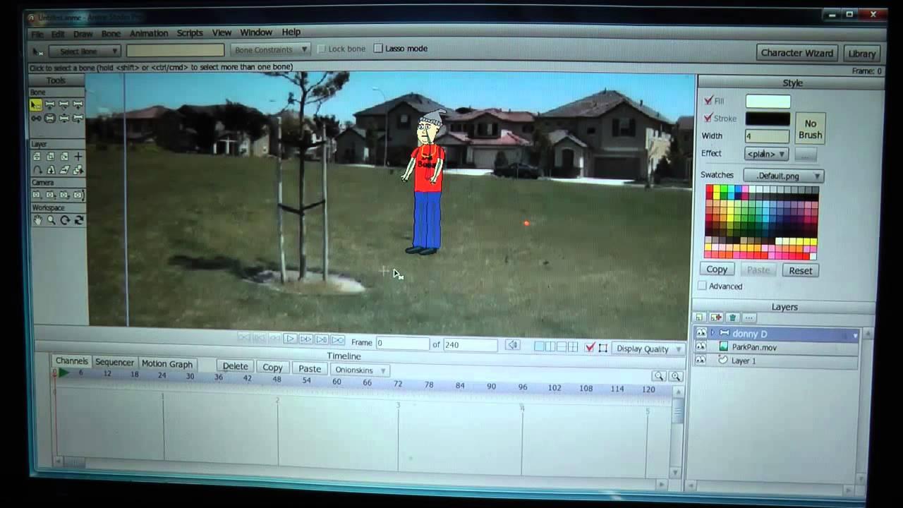 Anime Studio Pro 8 Motion Tracking Tutorial