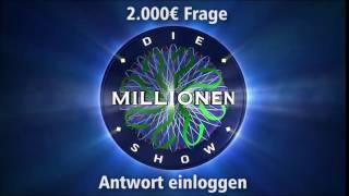 2.000€ Frage - Antwort einloggen   Millionenshow Soundeffect