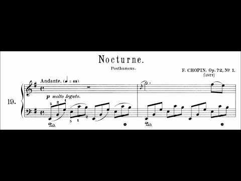 Chopin: Nocturne Op.72 No.1 in E Minor (Moravec)