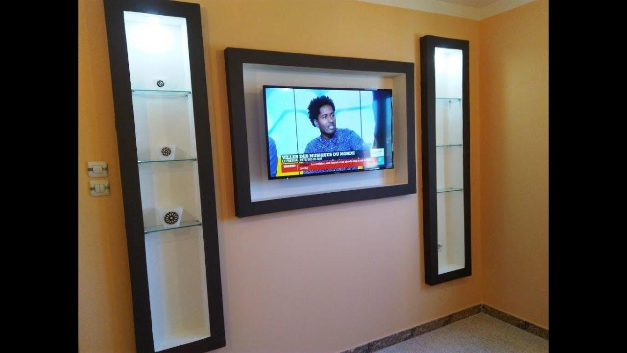 meuble tv en placoplatre decoration placo ba13 salon. Black Bedroom Furniture Sets. Home Design Ideas