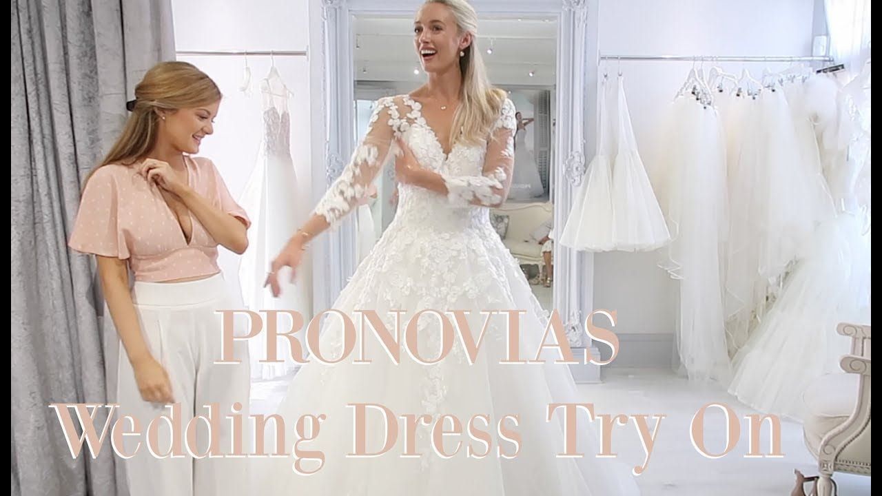 TRYING ON PRONOVIAS WEDDING DRESSES 👰 Spring // Summer