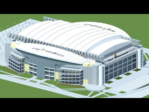 Minecraft - MEGABUILD - NRG Stadium (IHouston Texans) [Official] + DOWNLOAD