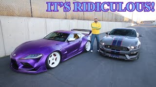 Rolling With Stradman's White Wheeled Wide Body Purple Supra!