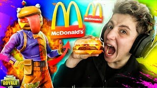 I arrive at McDonald's to FORTNITE: Battle Royale!! *Big Mac Skin* - TheManueltn1