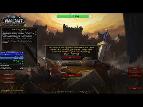 World Of Warcraft: 1-10 No Heirlooms/chests/rares - 31:16