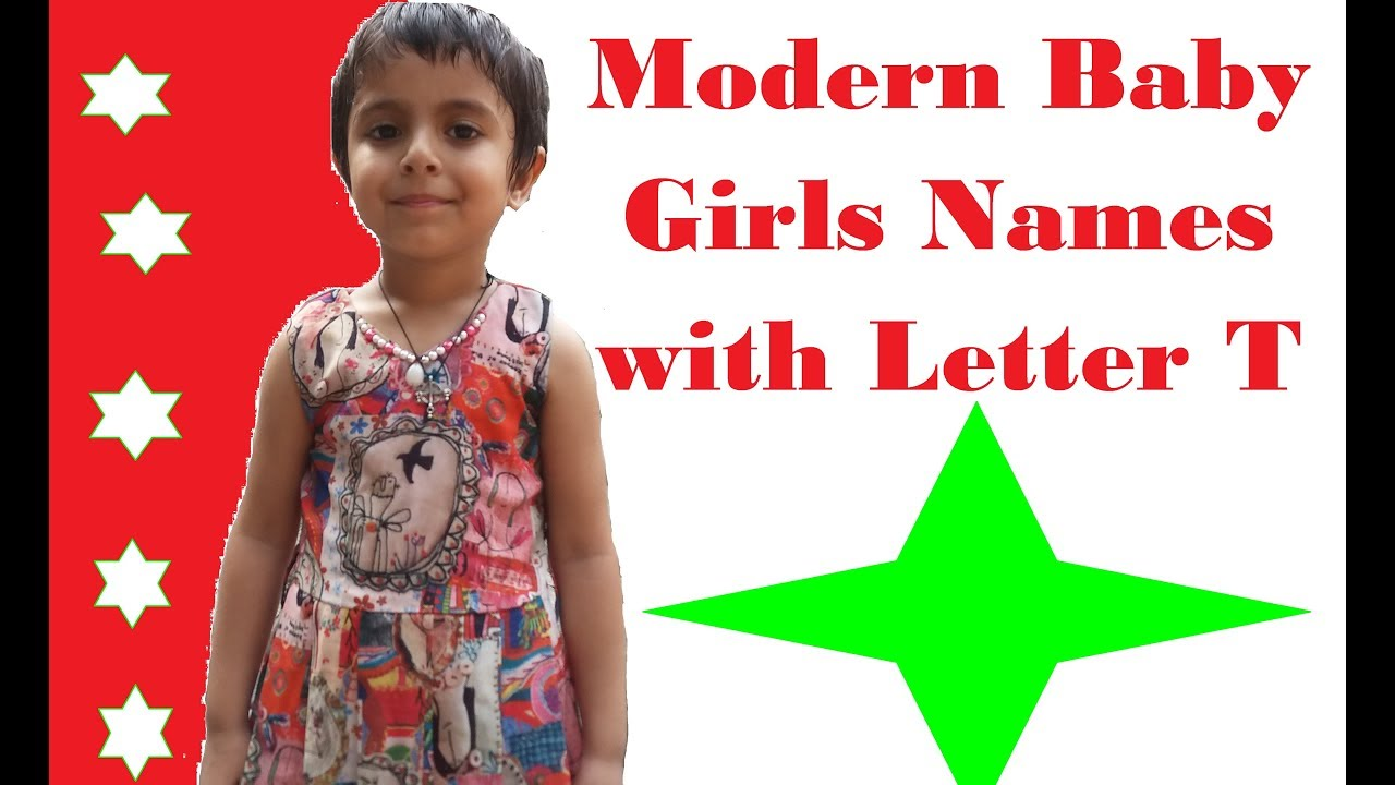 Modern Baby Girls Names with Letter T   YouTube