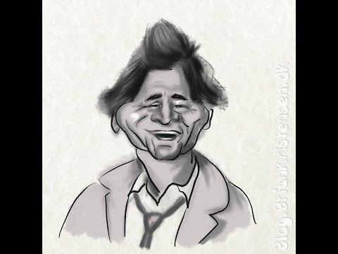 Daily sketch 0108 - Peter Falk aka Detective Columbo Caricature