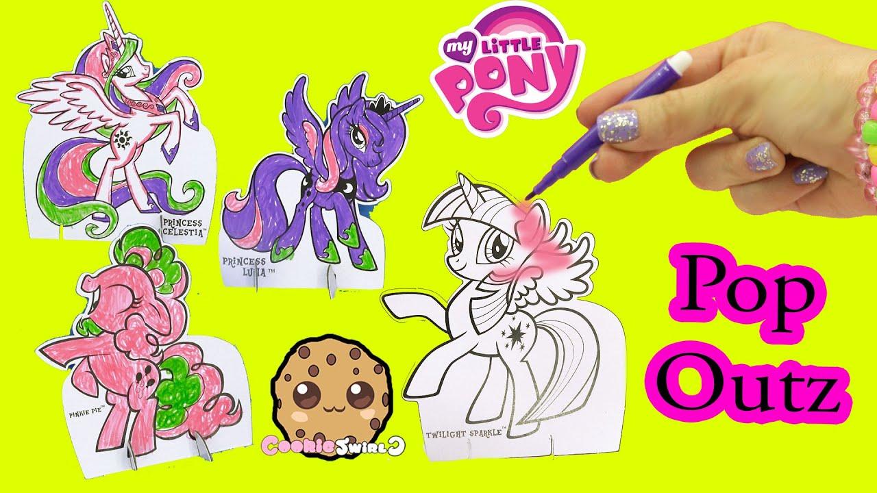 My Little Pony Pop Outz Marker Color Kit With Princess Luna