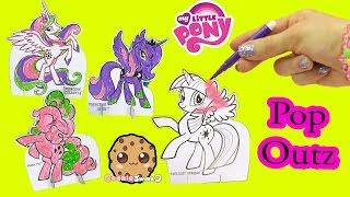 My Little Pony Pop Outz Marker Color Kit with Princess Luna, Celestia, Twilight Sparkle