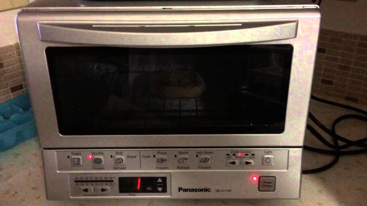 Panasonic FlashXpress Toaster Oven Light Demo NBG 110P