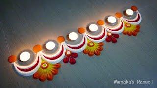 Easy Border Rangoli Design For Diwali