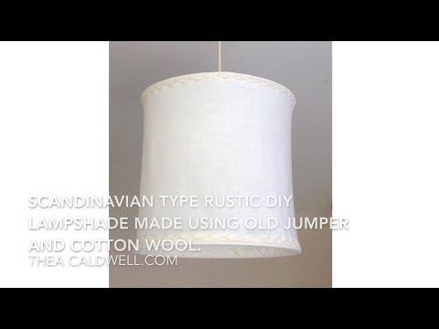DIY Scandinavian type Rustic lampshade.