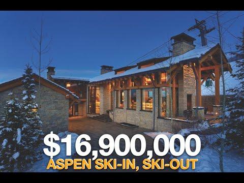 $16.9M | Aspen Ski-in, Ski-out | 370 Exhibition Ln, Aspen