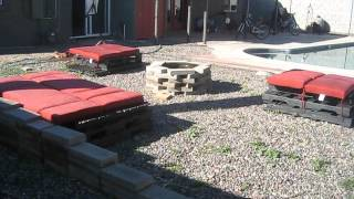Wood Pallet Patio Furniture Demo Video