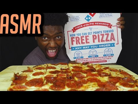 ASMR DOMINOS FRIED PEPPERONI PIZZA | EXTREME EATING SOUNDS | MAGIC CLAP | KEVO ASMR